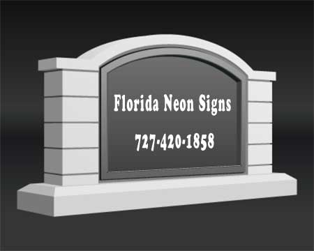 Monument Signs from Florida Neon Signs
